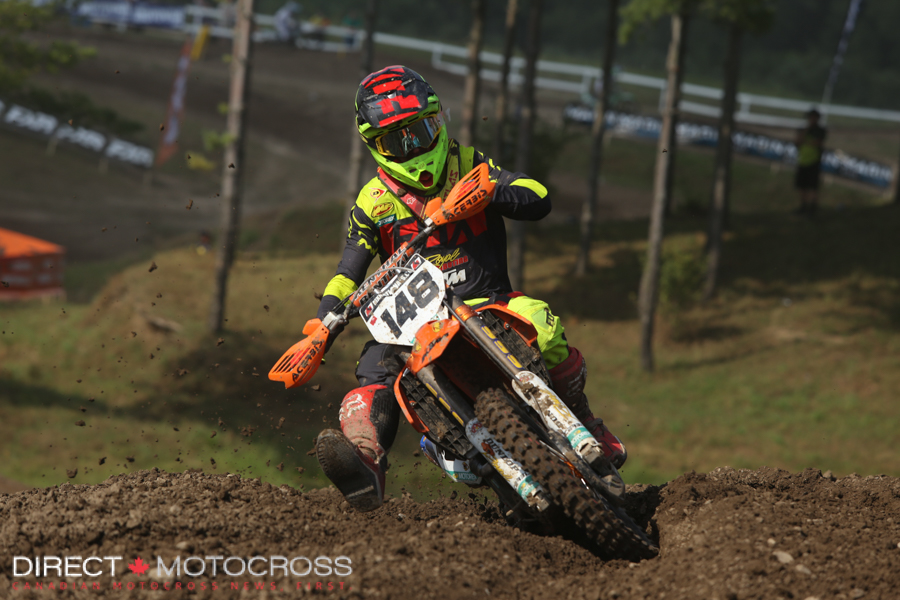 Royal Distributing Fox Racing KTM Canada's #148 Cole Thompson is very fast at Walton Raceway; we've seen it in the past.