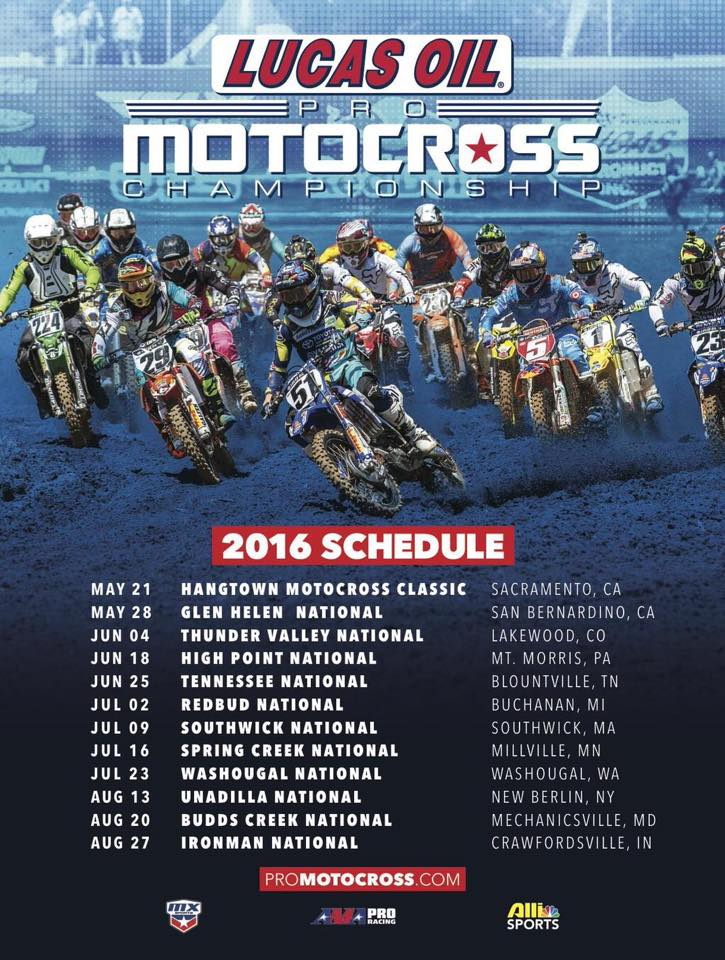 2016 AMA National Schedule