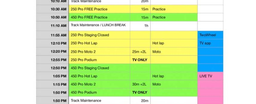 Round 5 Schedule and Need to Know at Sand Del Lee