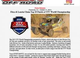 OTSFF's André Laurin Top 10 at UTV World Championship