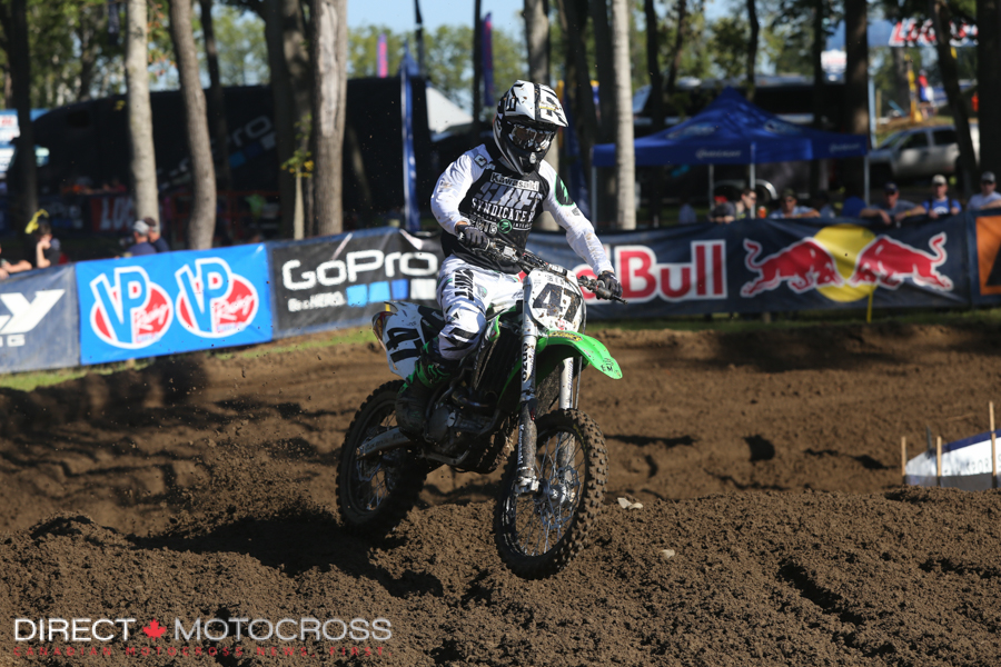 Jeff Emig got a rear flat and just sort of cruised around and watched the race.