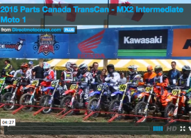 Video: Parts Canada TransCan – MX2 Intermediate Moto 1