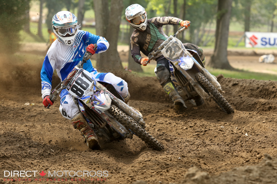 While these two were scrapping it out up front, Forkner was quickly making up time behind them.