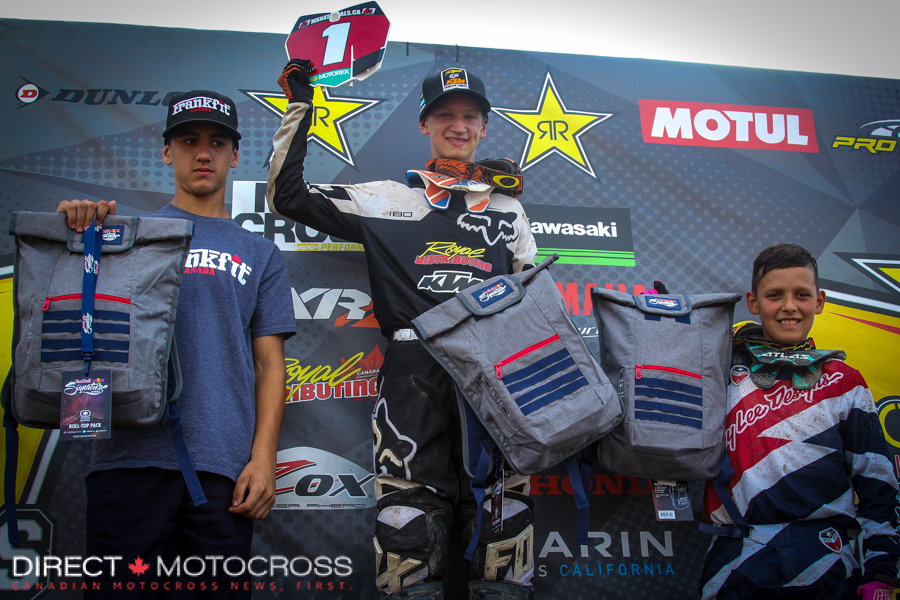 """""""Tanner won everything there was to be win in the Supermini class in Canada. He made the switch to the big bike and will be riding a 2016 150 SX next season."""" - Bigwave photo"""