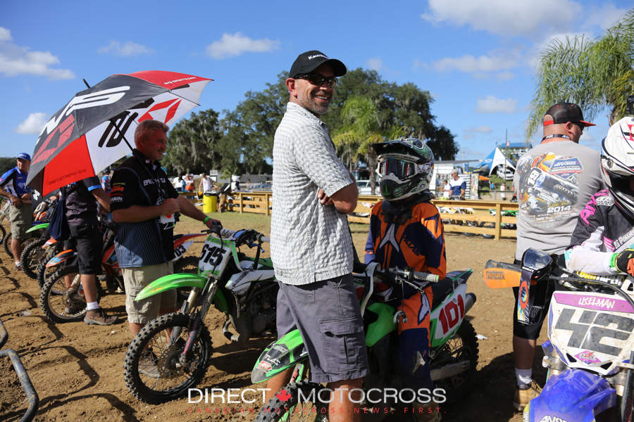 #101 Matthew Cemovic and his dad get set for a Saturday final.
