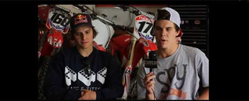 #TBT   Tyler Medaglia and Blake Savage Practicing on Cole Thompson's SX Track