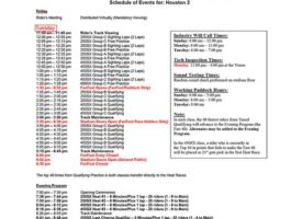 Houston 2 SX Race Day Schedule
